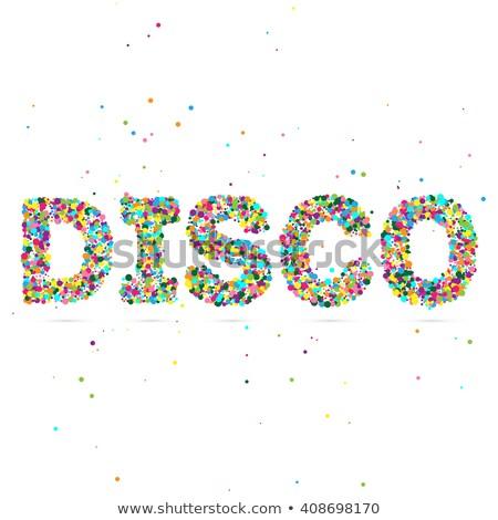 Discoteca parola colorato particelle eps 10 Foto d'archivio © netkov1