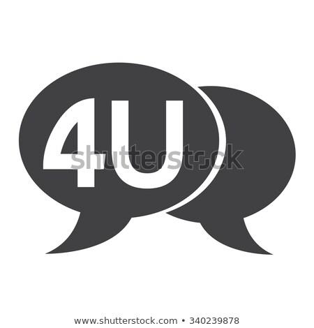 4U internet acronym chat bubble illustration Stock photo © kiddaikiddee