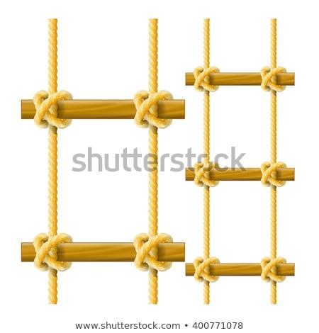 kötél · szett · fehér · izolált · biztonság · kábel - stock fotó © winner