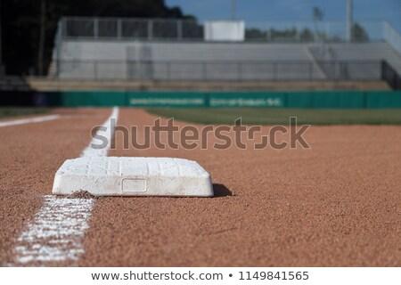 Baseline on a baseball field stock photo © njnightsky