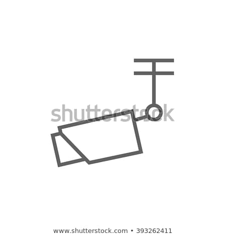 outdoor surveillance camera line icon stock photo © rastudio