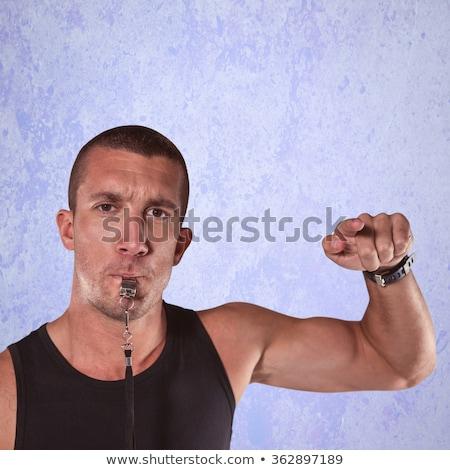 homem · assobiar · retrato · festa · seis - foto stock © wavebreak_media