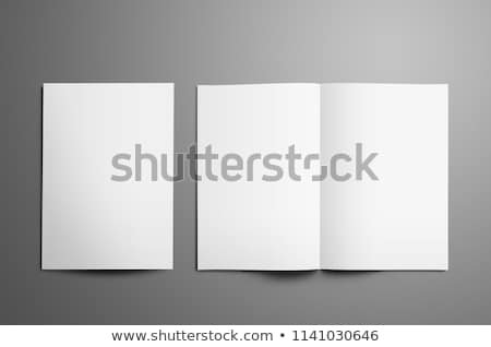 Open White Blank Brochure A4-A5 Flyer for Mockup Stock photo © Akhilesh