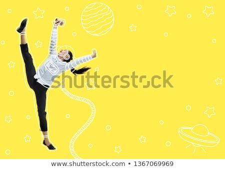 Genç astronot örnek dünya adam vücut Stok fotoğraf © bluering