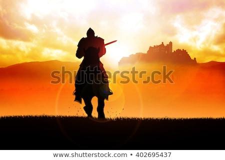 Medieval Knight on Horse Stock photo © Krisdog