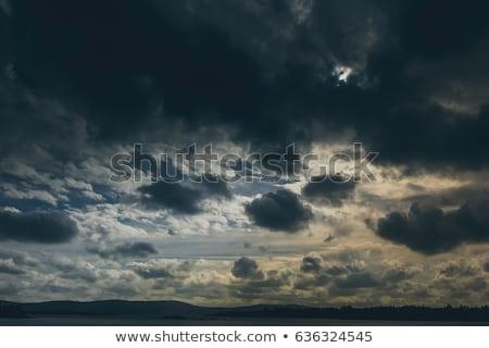 Bulutlar gri fırtına bulutları mavi gökyüzü beyaz Stok fotoğraf © meinzahn