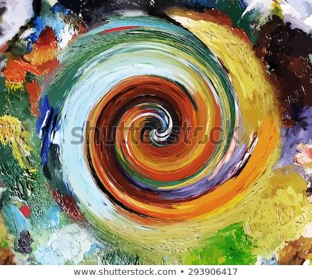 Renkli yağ boyama spiral soyut akrilik Stok fotoğraf © FOTOYOU