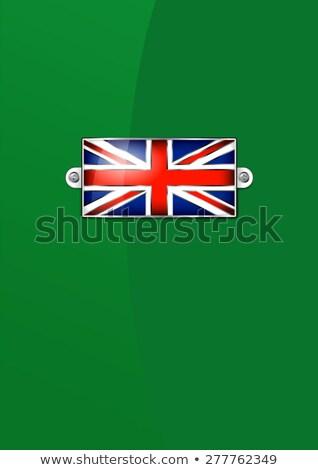 Esmalte britânico union jack bandeira bandeira inglês Foto stock © fenton