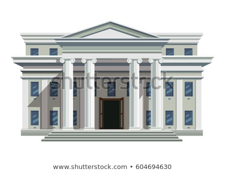 középiskola · épület · vektor · stílus · terv · nyilvános - stock fotó © marysan