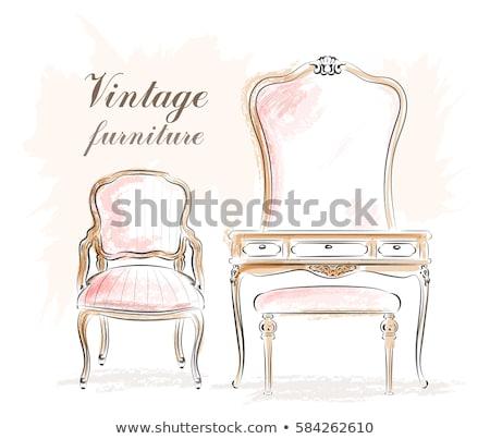 Stockfoto: Vintage Dressing Room Vector