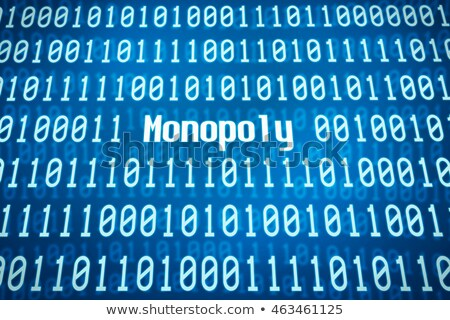 Binary code with the word Monopoly in the center Stock photo © Zerbor