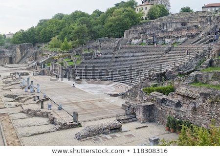 amphitheater of the three gauls in fourviere above lyon france stock photo © meinzahn
