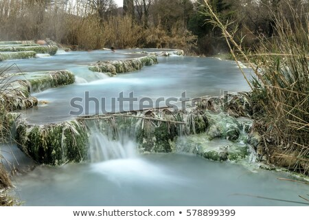 ücretsiz · spa · Toskana · güzellik · havuz · çağlayan - stok fotoğraf © Fotografiche