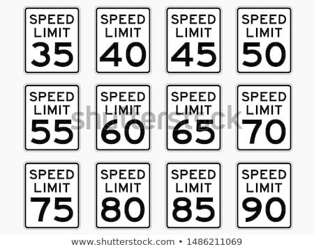 Mph rijden snelheidslimiet teken snelweg Stockfoto © stevanovicigor