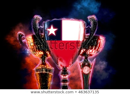Trophy cup textured with flag of Chile. 2D Digital illustration Stock photo © Kirill_M