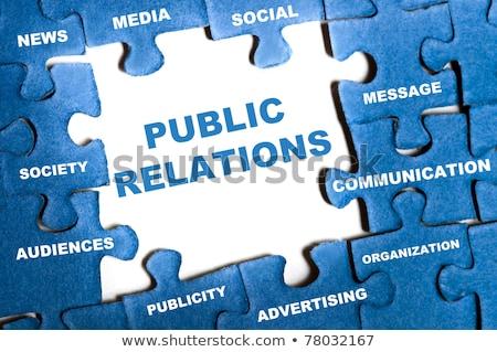 quebra-cabeça · imprensa · mídia · marketing - foto stock © fuzzbones0