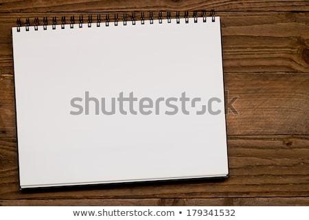 Spirali krajobraz biały papieru rysunek biuro Zdjęcia stock © nicemonkey
