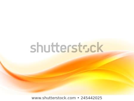 Stock photo: Bright orange wavy abstract corporate background