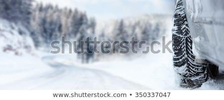 tél · autógumi · közelkép · autók · autógumik · út - stock fotó © taiga