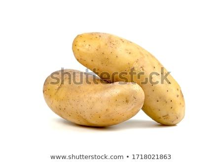 Büyük patates organik alan çiftlik çatal Stok fotoğraf © Photofreak
