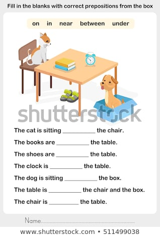 A worksheet with a dog sleeping Stock photo © bluering