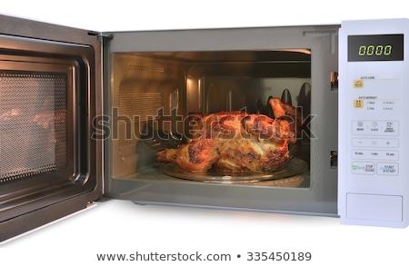鶏 電子レンジ オーブン 実例 背景 ストックフォト © bluering