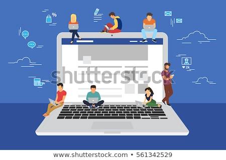 社会的ネットワーク · ツリー · メディア · アイコン - ストックフォト © rastudio