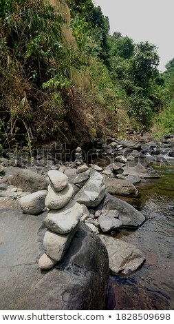 Background View of Several River Stones Stock photo © ozgur