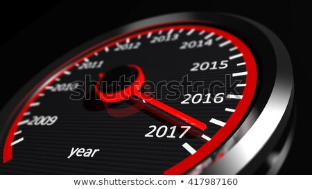 спидометр год приветствие шин автомобилей дороги Сток-фото © m_pavlov