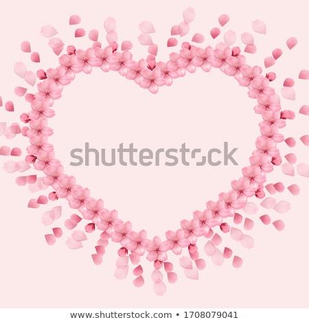 wedding card with gentle sakura flowers eps 10 stock photo © beholdereye