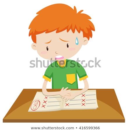 Ragazzo pari a zero punteggio carta illustrazione bambino Foto d'archivio © bluering