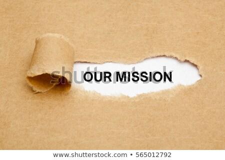 Missão papel atrás papel pardo corporativo Foto stock © ivelin