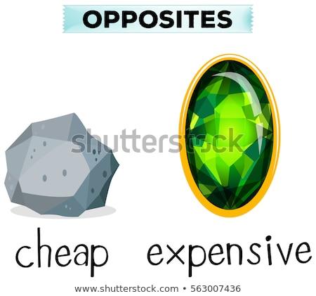 Cuvinte ieftin scump ilustrare fundal Imagine de stoc © bluering