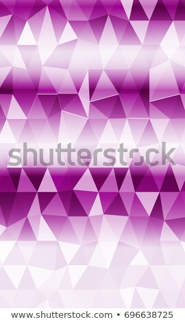 company business card template with purple geometric shapes Stock photo © SArts