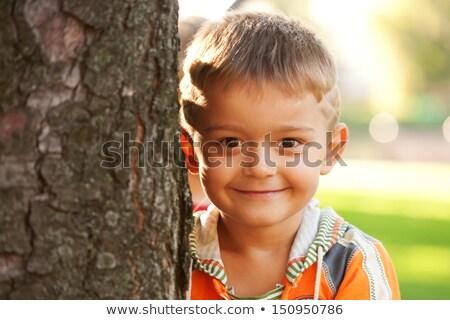детей площадка девушки Blur трава Сток-фото © deandrobot