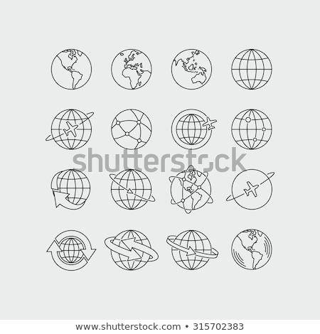 Astrologie ligne icônes gui Photo stock © Voysla
