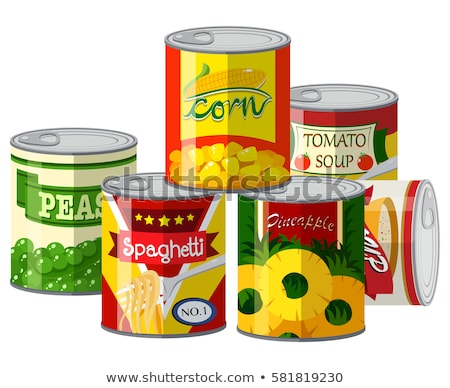 Pile of different canned food Stock photo © bluering
