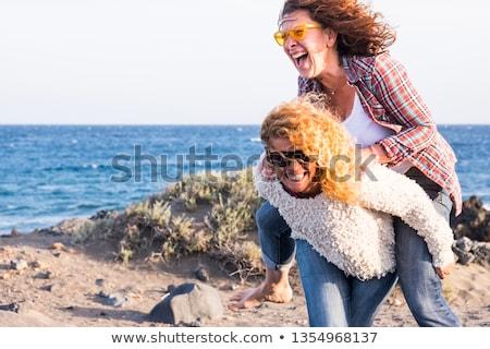 Сток-фото: женщину · смеясь · улице · Европа · туристических