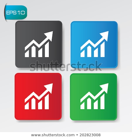 Előnyök diagram ikon zöld gomb pénzügy Stock fotó © Imaagio