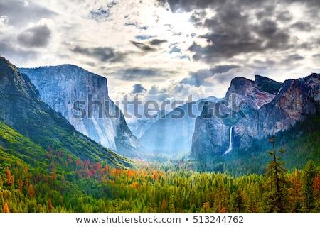 滝 · ブライダル · ベール · ヨセミテ国立公園 · 水 · 壁 - ストックフォト © meinzahn