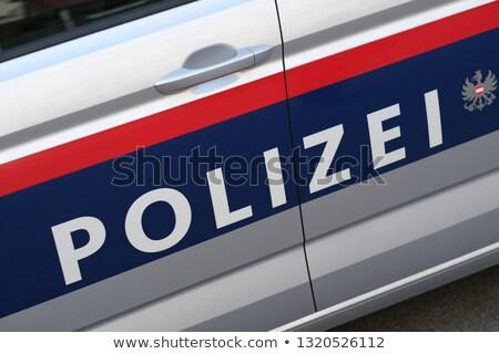 Polis araba renkli örnek Stok fotoğraf © derocz