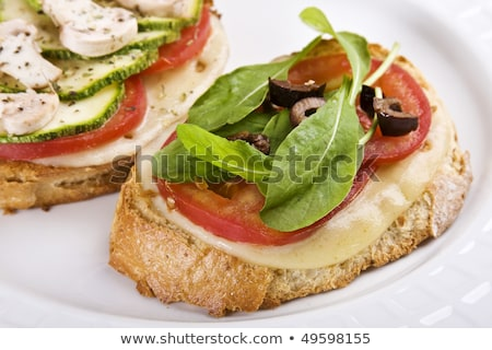 Photo stock: Mozzarela Tomato Canapes
