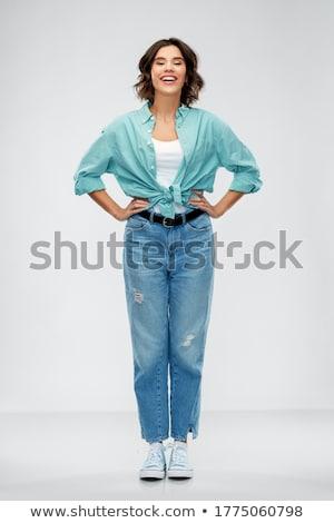 Full-length shot of beautiful young woman Stock photo © deandrobot