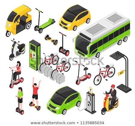 green transportation bike concept illustration stock photo © alexmillos