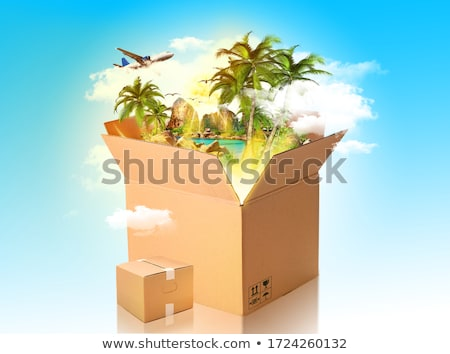 the parcel from paradise stock photo © psychoshadow