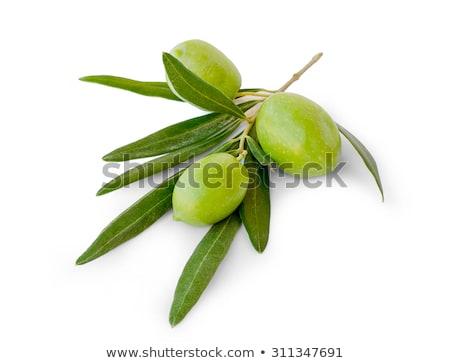 Groene olijven container witte tabel Stockfoto © wavebreak_media