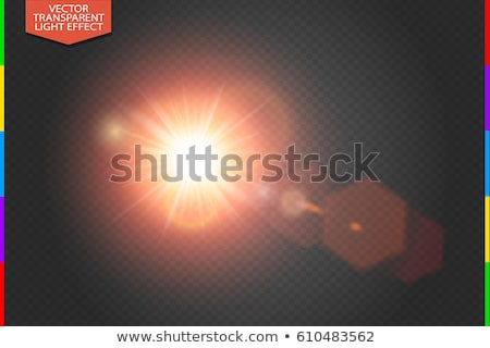 Vector transparent bright red sunlight special lens flare light effect with hexagon elements Stock photo © Iaroslava
