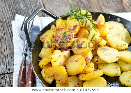 potato onion frying pan stock photo © romvo