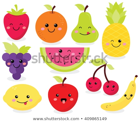 Feliz frutas caras vector establecer cute Foto stock © beaubelle