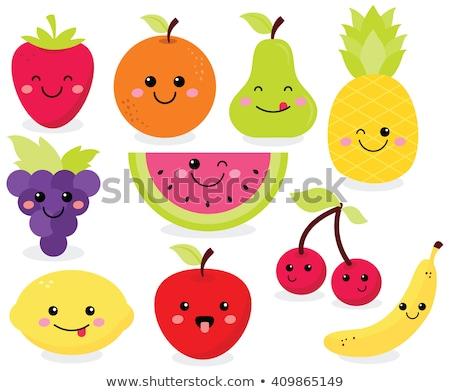 meyve · komik · karikatür · gülümseme · okul - stok fotoğraf © beaubelle